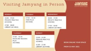 Visiting Hours Jamyang London Buddhist Centre
